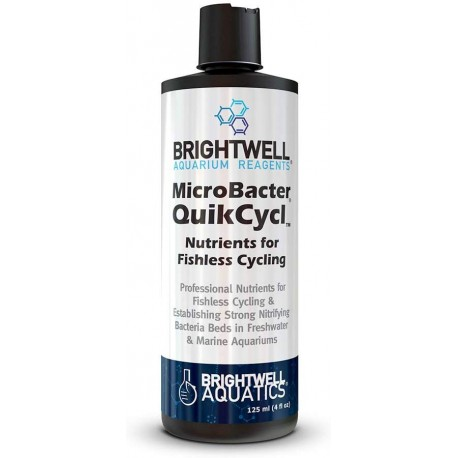 MicroBacter QuikCycl Ammonia Nutrient for Fishless Cycle - Brightwell Aquatics