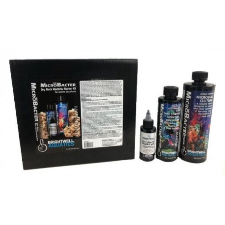 Brightwell Aquatics - MicroBacter Dry Rock Bacteria Starter Kit -